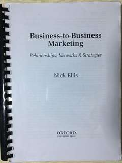 RMIT MKTG1271 B2B Marketing