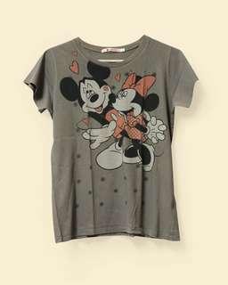 Uniqlo Mickey Mouse Gray Tee