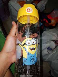 Tritan Minions Water Bottle in White
