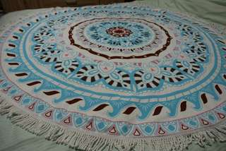 (BN) Round Microfiber Mandala Tapestry/Beach Mat/Throw Towel