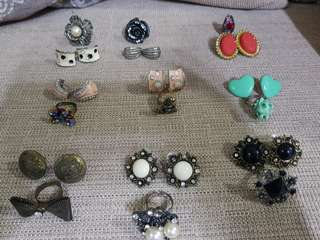 Sale! Fashionable and Vintage Pieces - earrings and ring set from my travel