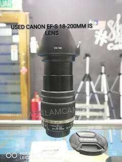 (USED) CANON EF-S 18-200MM F/3.5-5.6 IS LENS