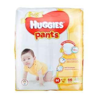 Brand New Huggies Gold Pants M (6-12kg) size (56 pants)