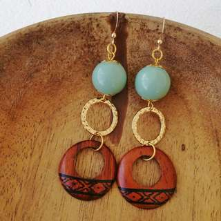 Handmade Wood Earrings (Clara)