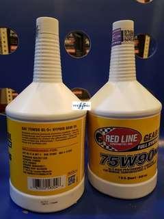 Redline 75W90NS GL-5 Manual Transmission Gear Oil