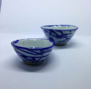 青花杯 Qing Hua teacups