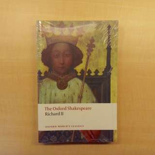 *STILL IN PLASTIC WRAPPING* Richard II by William Shakespeare (EN4880A: USURPATION AND AUTHORITY, 1558-1674)