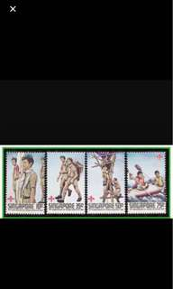 Singapore stamps scouts 4v Set MNH