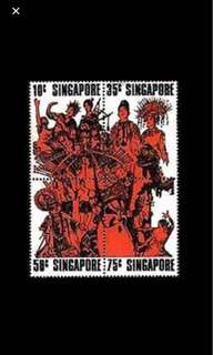 Singapore stamps 1973 National Day Block Of 4 Set MNH