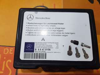 Original Mercedes Benz anti theft wheel bolts