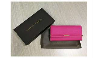 Charles & Keith Wallet Pink / Black