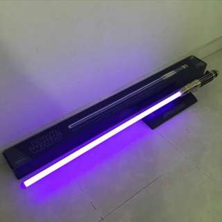 Rare 2007 Hasbro Signature Series Mace Windu FX Lightsaber Star Wars ROTS.