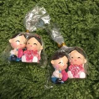 Mini bride and groom ornament RM10/set