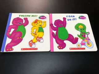 Lot of 2 Scholastic Barney Books