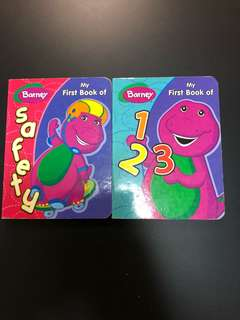 Lot of 2 Barney Books - My First Book of 123 & Safety