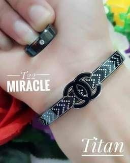 Gelang n cincin titanium cantik sehat