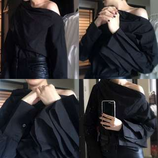korean designer decontructed top