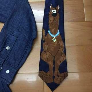 領帶🐶美國華納公司史酷比絲質領帶🐕🐶
