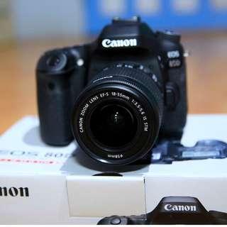 Canon EOS 80D DSLR Lensa 18-55mm
