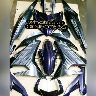 coverset yamaha y15zr purple original yamaha