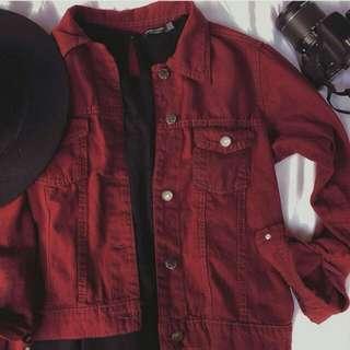 Jacket BASIC ZARA Maroon