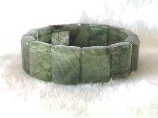 绿发晶手排 Green Rutilated Quartz Bracelet