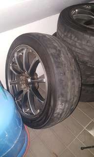 "17"" advanti rims with tyres"
