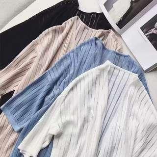 🚚 (預購)坑條長版罩衫