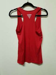 Red Guess singlet