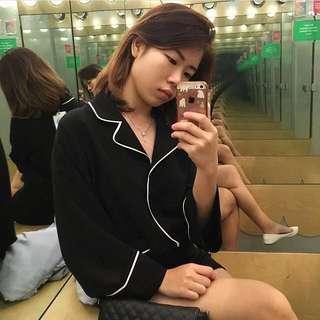 Korean fashion button blouse