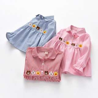 New Shirt Children's embroidery Long-sleeved shirt