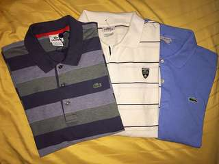 3 for Rm97 Lacoste Polo Shirt Authentic Preloved