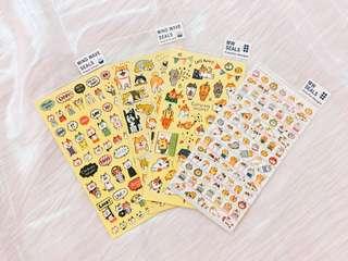 🐱貓咪小狗貼紙(共四款)🐶貼紙/便利貼/便條紙任選3個$100