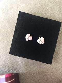 Pink Leaf - Earrings