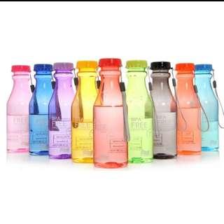 Botol minum unik colorful - 550ml