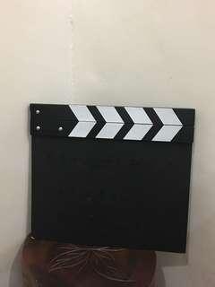 Director's Video Scene Clapper board Slate Cut Props