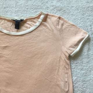 F21 Pink Cropped T-Shirt