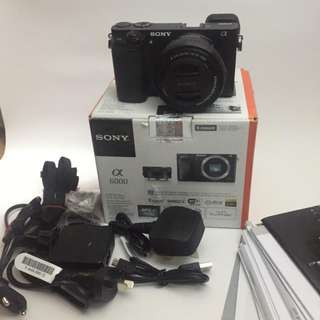 Sony Camera A6000 black With Lens Kit 16-50mm