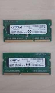Crucial 8GB (2×4GB) DDR3 1600Mhz