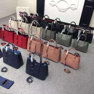 Prada Saffiano Double Bags