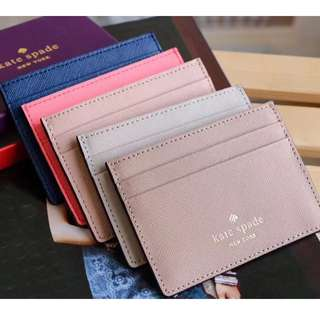 Kate Spade Leather Cardholder Different colour