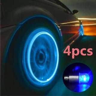 Led tire valve lights cap