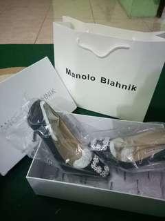 Manolo Blahnik Black Mirror Quality - Heels 6 cm