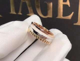 Boucheron 寶詩龍 QUATRE 窄版4式白陶瓷戒指