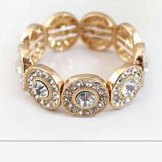 INSTOCK Rhine crystals elastic bracelet
