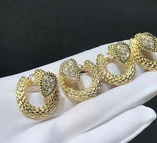 Boucheron 寶詩龍 SERPENT BOHÈME 中梨形 鑽石圓形耳環