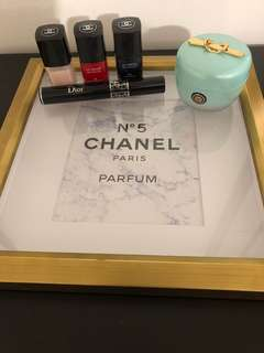 CHANEL Marble + Gold Vanity Tray
