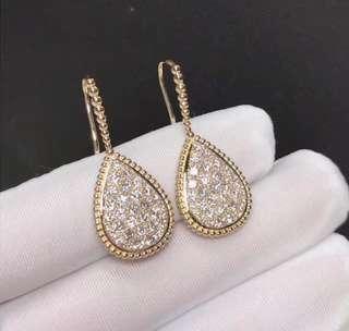 Boucheron 寶詩龍 SERPENT BOHÈME 大梨形 鑽石耳環