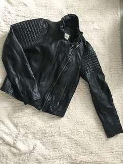Abercrombie leather jacket