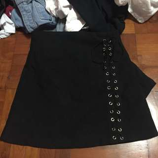 Black criss cross skirt